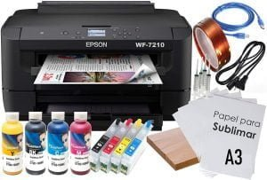 kit sublimación epson wf7210